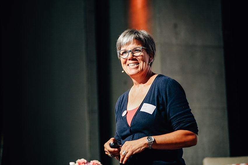 Gefühlsdolmetscherin Marlis Lamers am Demenz Meet Zürich 2018