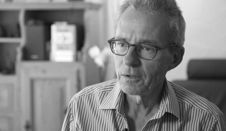 Peter Lanker, an Alzheimer erkrankt